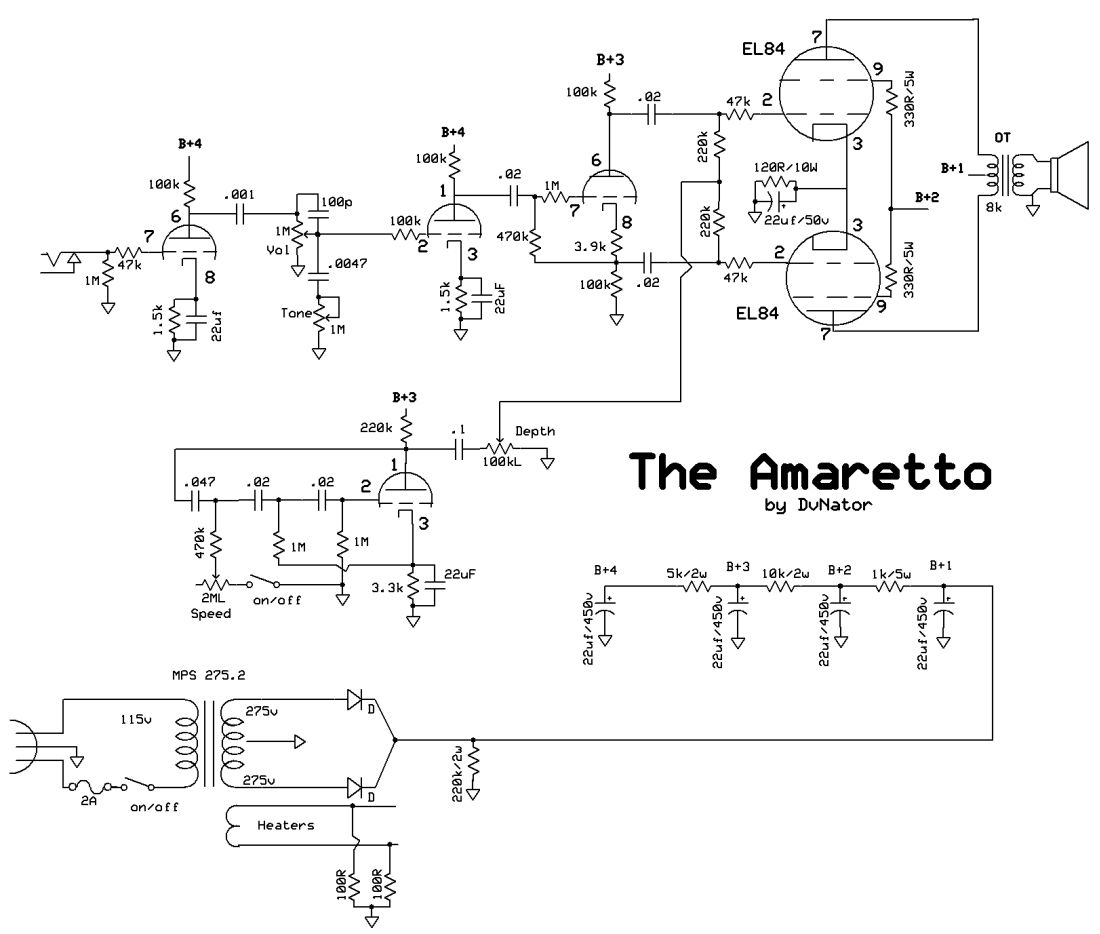 The Amaretto – DvNator's Amp Projects