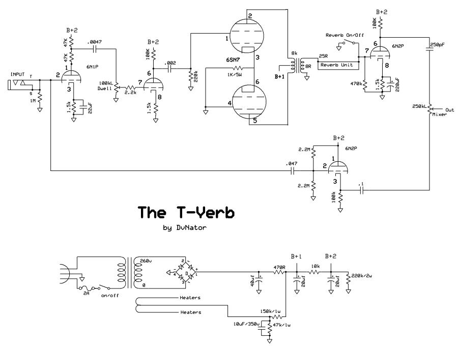 1 Watt Tube   Schematic on 1000w power lifier circuit diagram