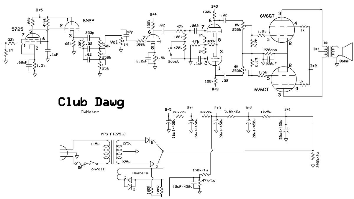 Club Dawg – DvNator's Amp Projects