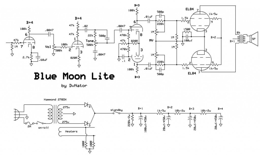 Blue Moon Lite Schematic Dvnator S Amp Projects
